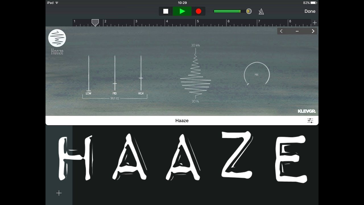 Haaze by klevgr working as an auv3 in garageband ipad tutorial youtube haaze by klevgr working as an auv3 in garageband ipad tutorial baditri Images