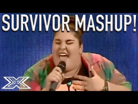 Greatest Audition Ever? SurvivorI Will Survive Mash Up Has Judges DANCING!  X Factor Global