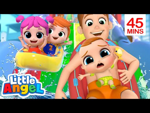 Don't Be Afraid Of The Water | A Water Park Song | Little Angel Kids Songs