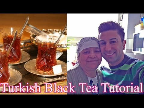 Trkischer Schwarz-Tee Zubereitung mit Oma Sasmaz! How to do Turkish Black Tea with Zadiel Sasmaz.