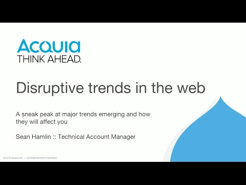 Disruptive trends in the web 2016