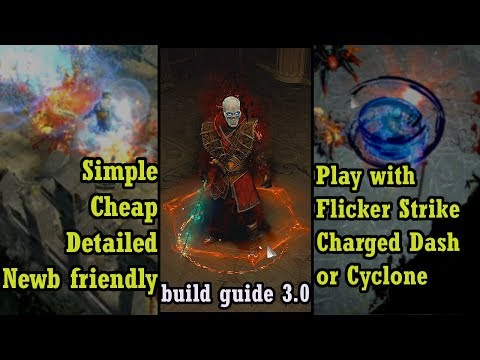 Cheap Flicker, Cyclone or Charged Dash build - Path of Exile (3.0 Harbinger)