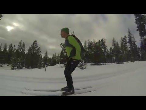 Skiing at Seeley Lake