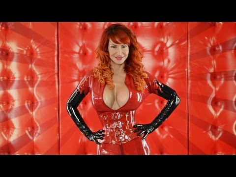 bianca beauchamp latex rubber skintight catsuit shiny bright