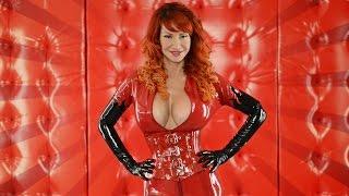 Repeat youtube video Red Latex Catsuit & Corset: Bianca Beauchamp