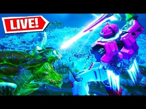 FORTNITE ROBOT VS MONSTER LIVE EVENT FIGHT!!! (Fortnite Battle Royale)