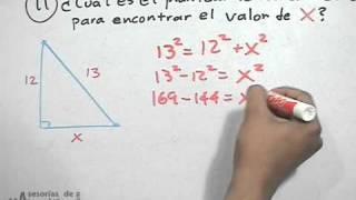 Teorema de pitágoras │ problema 7