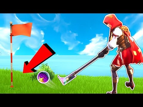 HOLE IN ONE GOLF CHALLENGE!! - Fortnite Battle Royale