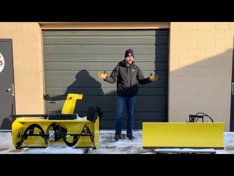 SNOWBLOWER VS SNOW PLOW? THE BEST SOLUTION FOR YOUR TRACTOR!
