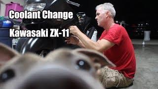 Kawasaki ZX11 Coolant Change Tutorial