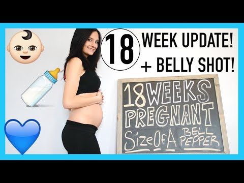 18 WEEKS PREGNANT! | MORE BABY MOVEMENT, SEVERE DRY SKIN & NESTING!
