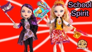 SCHOOL SPIRIT Ever After High Dolls Apple & Raven Set And Shopkins Season 3 Blind Bag Unboxing