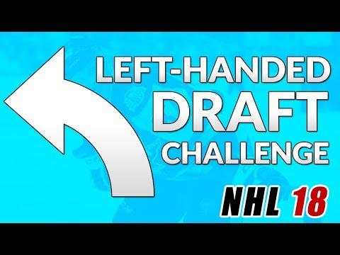 LEFT HANDED PLAYERS DRAFT! (NHL 18 Fantasy Draft Challenge!)
