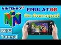 How to Soft-Mod WiiU: Pt 13 - Install an Overclocked N64 Emulator w/ Gamepad Controls