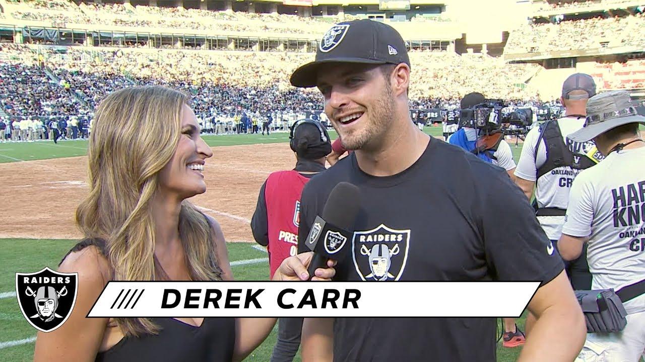 Derek Carr highlights new weapons: