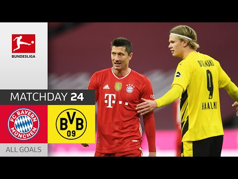 Haaland's Brace Not Enough Against Unstoppable Lewandowski   Bayern vs. Dortmund   MD 24