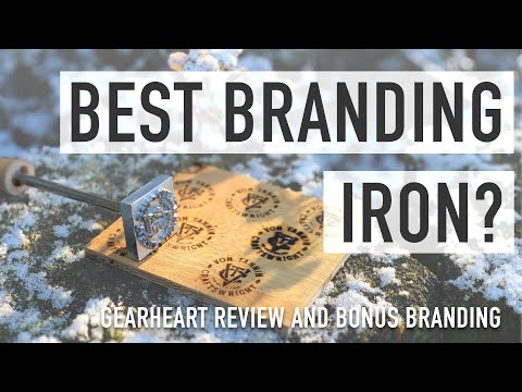 Wood and Leather Branding Iron // Gearheart Industry Stamp Review