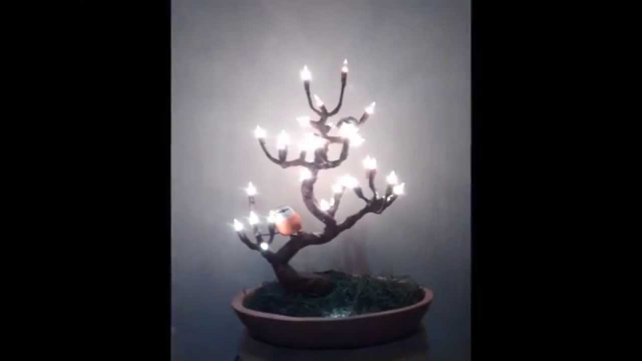 Arbol bonsai de alambre con luces youtube - Luces para arboles ...