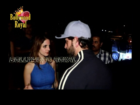Hrithik Roshan And Sussanne Spotted At SECRET Dinner Date from YouTube · Duration:  48 seconds