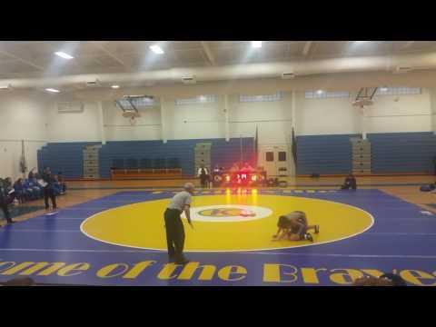 Camden's first wrestling match 02/14/2017 Larkspur Middle School v  Kempsville Middle School