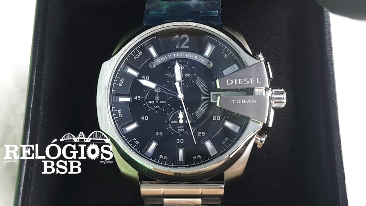 0b632d64142b8 Diesel 10 Bar Aço - Relógios BSB - YouTube