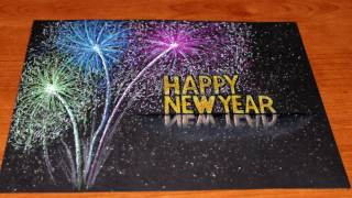 How to draw Happy New Year 2017-Happy New Year 3D Drawing-Like Writing Happy New Year