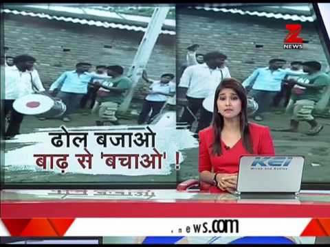 Watch: Drums being used to warn people about flood in Gujarat