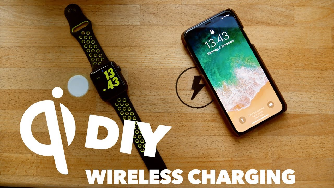Diy Wireless Charging F 252 Rs Iphone X Apple Watch Youtube