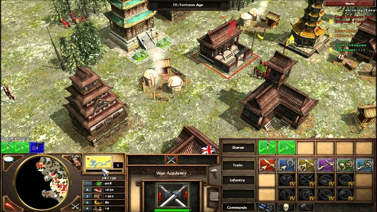 Empires 3 asian cheats likely