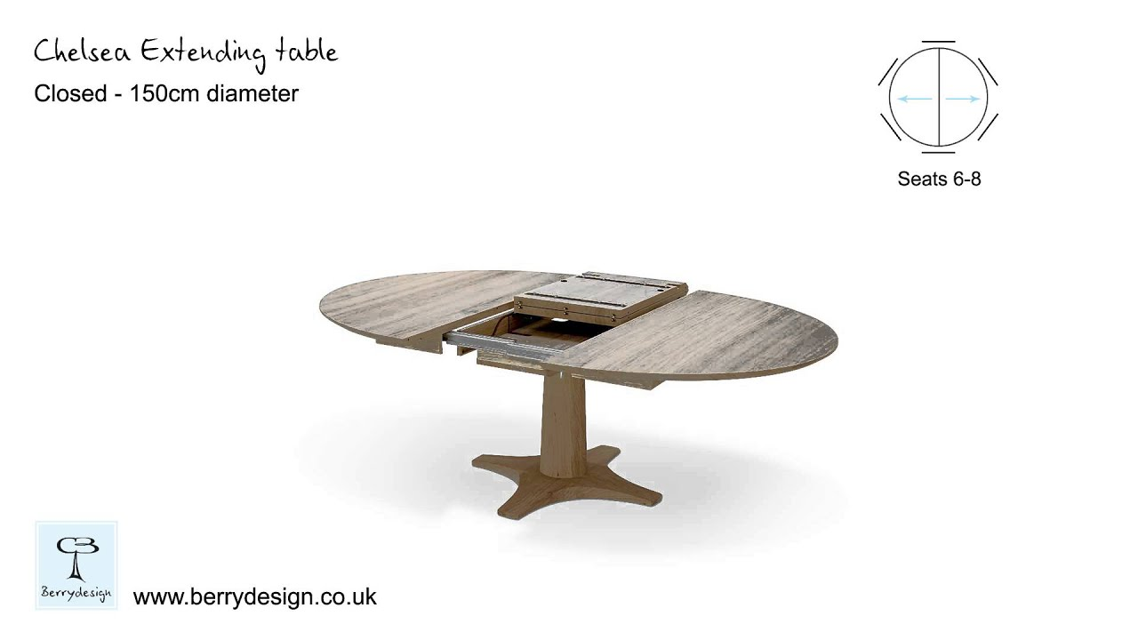 Round dining table design features chelsea oak round extending table - Chelsea Round Extending Dining Table