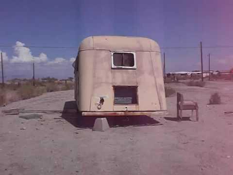 Abandoned Trailer At Salton Sea Beach