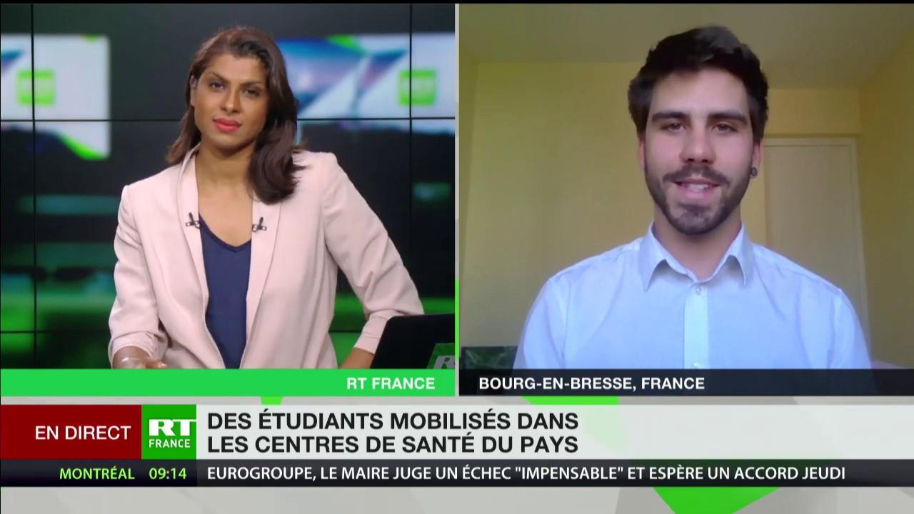 Félix Ledoux commente la mobilisation des étudiants en médecine auprès des soignants