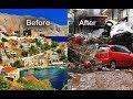 Symi Island, before and after the floods, Greece, flash floods, inundations, mudslide, rockslide
