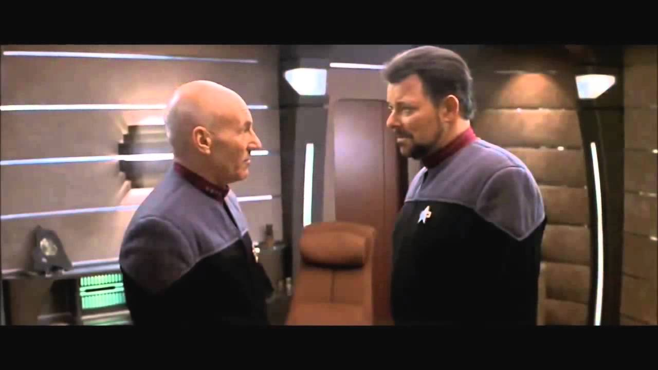 star trek nemesis picard and riker say goodbye youtube