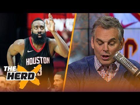 James Harden leads NBA MVP race according to NBA Media - Colin Cowherd reacts | THE HERD
