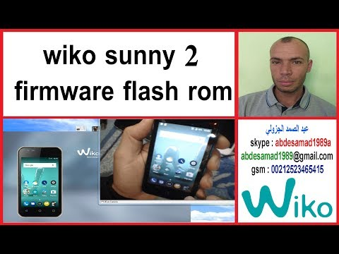 wiko sunny 2 firmware flash rom - YouTube