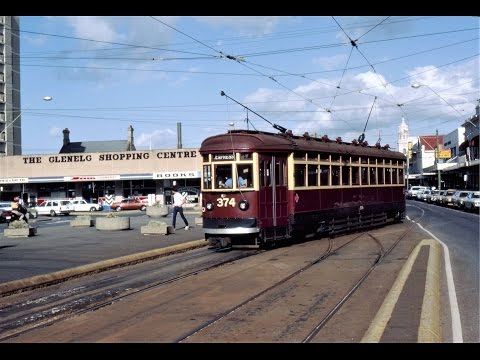 Adelaide, South Australia Tram Scenes - A slideshow with H class trams -1978 & 1984