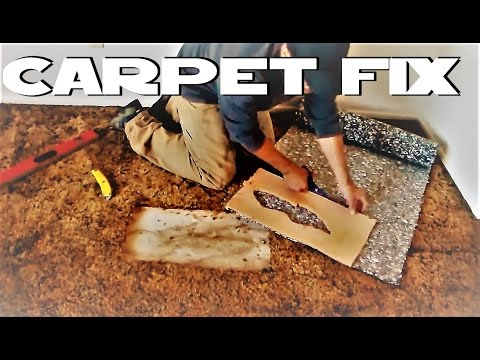 Patch hole in carpet DIY 3 minutes HOME DEPOT materials