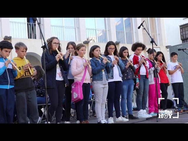 VÍDEO: Así sonó la Banda Joven del Conservatorio y un grupo de escolares interpretando el Himno a la Alegría