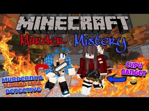 MURDER & DETECTIVENYA KERJA SAMA Ft. VANIA DELICIA    - Minecraft Murder Mystery Indonesia