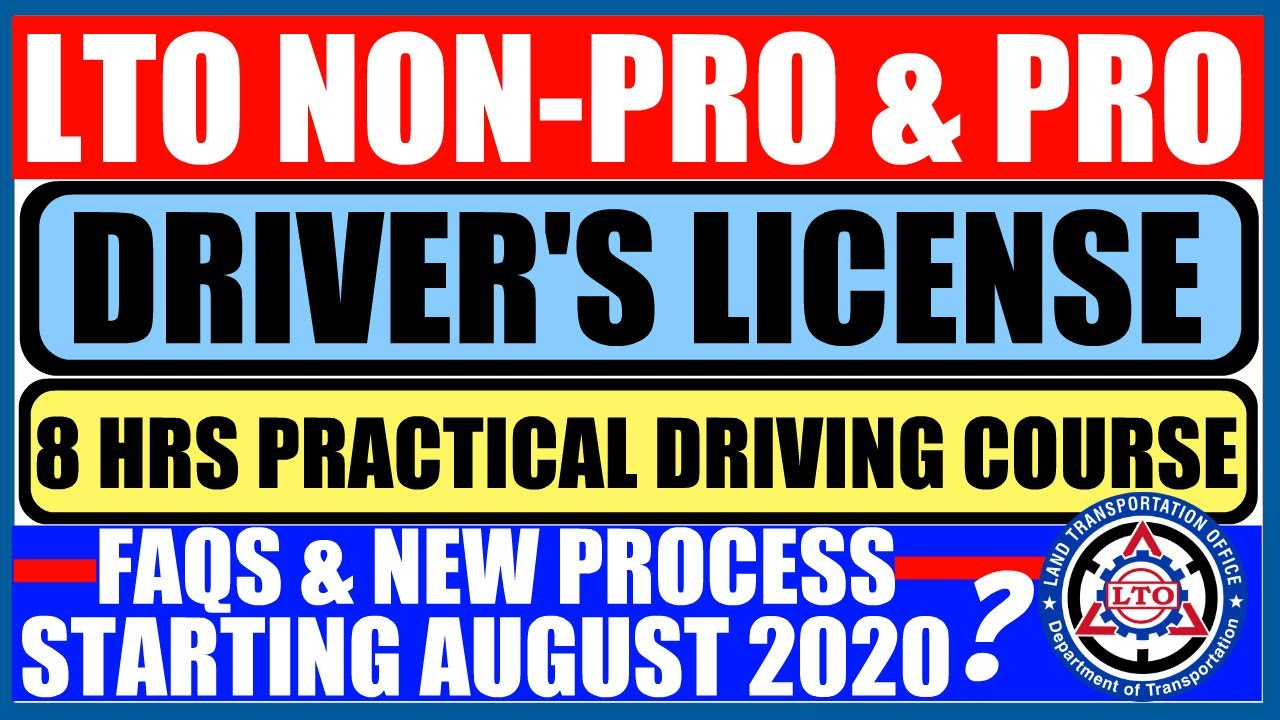 LTO NON PRO & PRO | 8 HOURS PRACTICAL DRIVING COURSE | NEW PROCESS STARTING AUGUST 2020!?