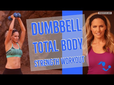 32 Minute Dumbbell Total Body Strength Workout