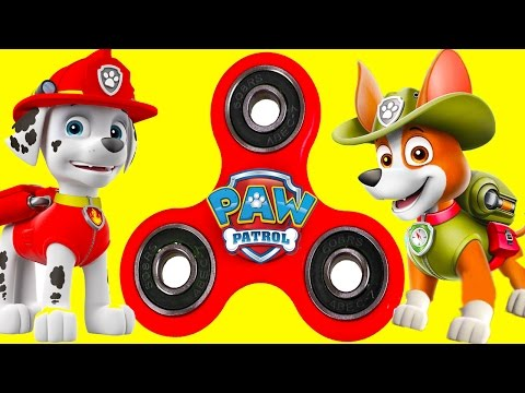 Paw Patrol Fidget Spinner Game with Skye, Marshall, Hatchimal Collegtible Surprise, Flipazoo