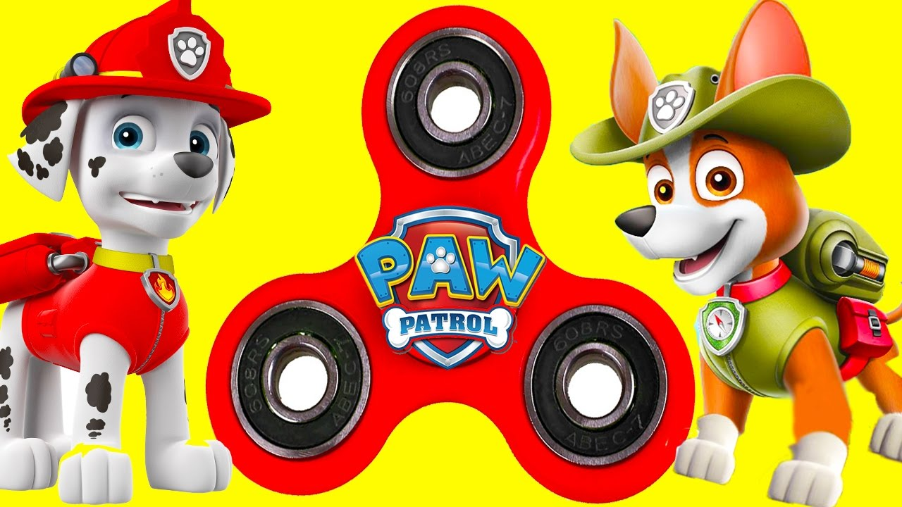 Paw Patrol Fidget Spinner Game With Skye Marshall Hat