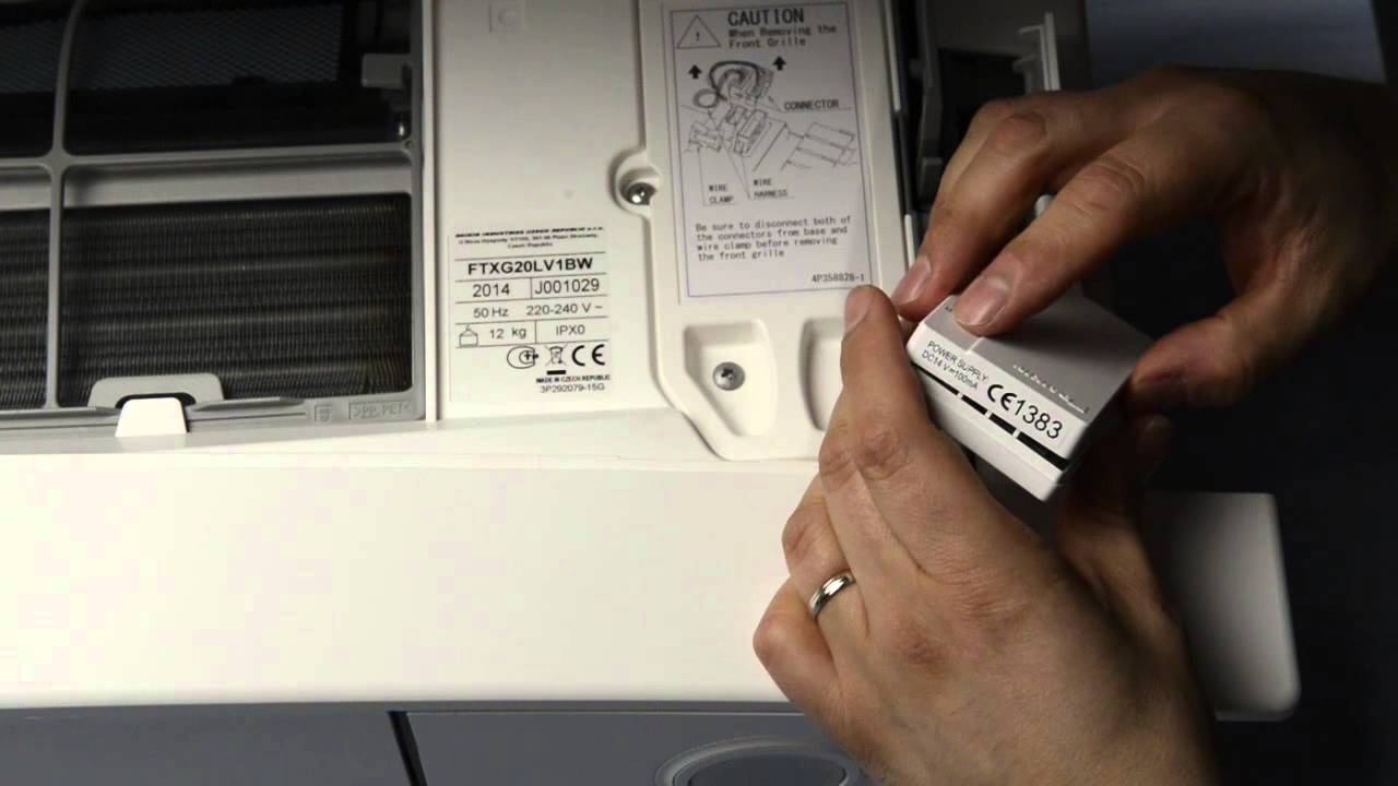 Schema Elettrico Daikin : Installazione scheda wi fi climatizzatore daikin emura youtube
