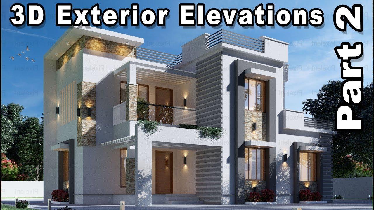 Pixelent   3D Exterior Elevation Designs (Part 2)