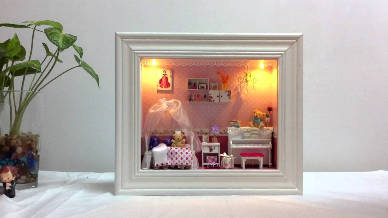 Diy dollhouse miniature in a 3d frame box dream of the Miniature room boxes interior design
