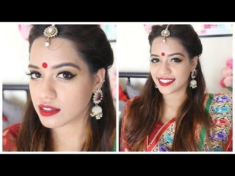 makeup by ethnico-Durga Puja/Navratri Makeup Tutorial