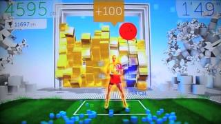 Wall Breaker Challenge Gameplay 11547pts - Your Shape: Fitness Evolved 2012 - Kinect