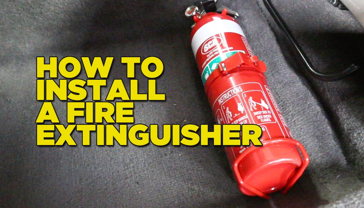 How To Install A Fire Extinguisher In Your Car Youtube